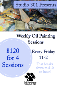 September Wednesday Evening - Weekly Oil Painting Sessions @ Studio 301